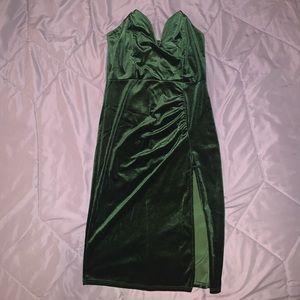 Green velvet never worn dress